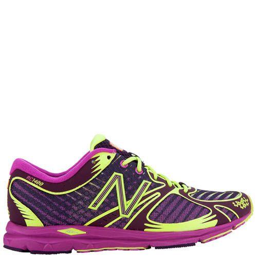 Кроссовки New Balance женские 1400 для бега фиолетовые с ярко-желтым, фото