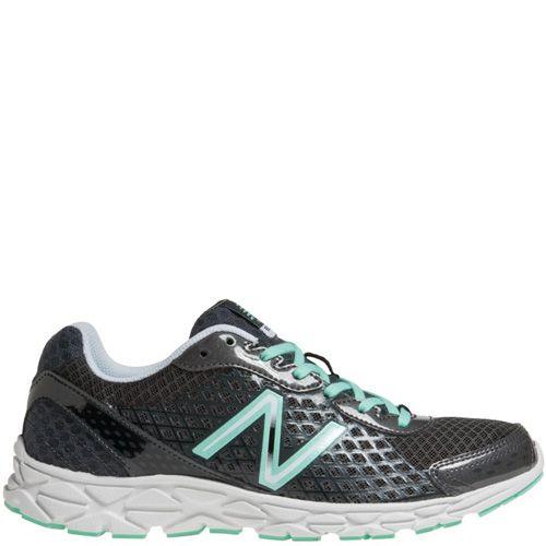 Легкие беговые кроссовки New Balance 590 темно-серые со светло-бирюзовым, фото