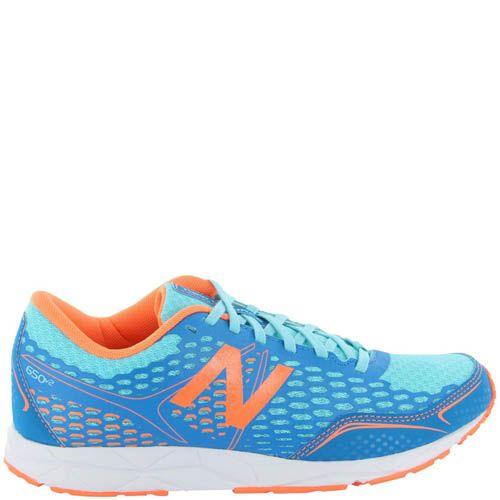 Кроссовки New Balance женские модель 650 в синем цвете с оранжевым, фото