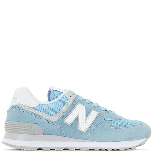 ☆ Женские кроссовки New Balance 574 голубого цвета WL574ESB купить ... cc27129a72e