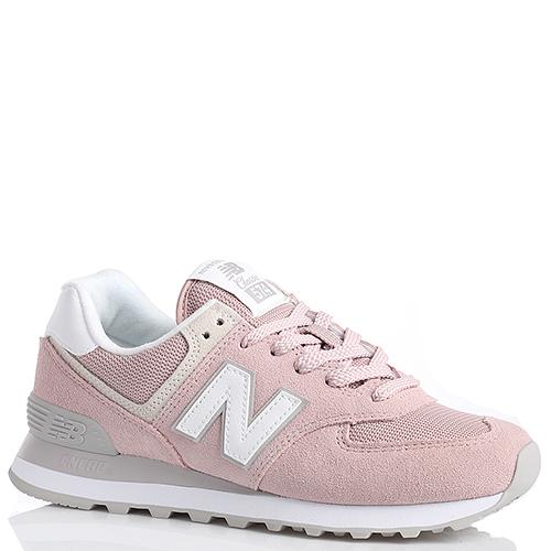 3c4f65b5f798 Женские кроссовки New Balance 574 из замши розового цвета WL574ESP-o, фото