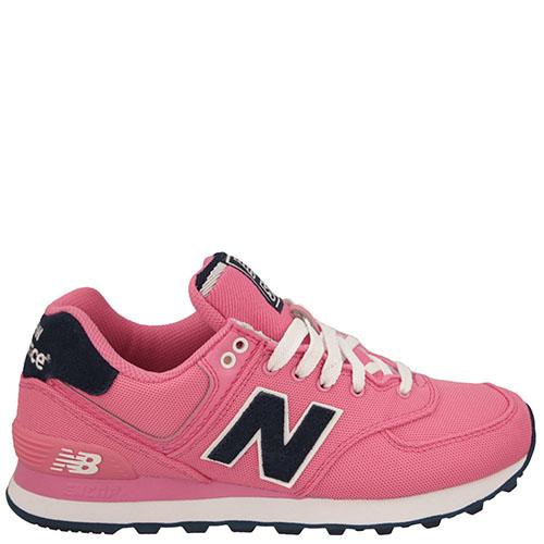 Кроссовки New Balance женские модель 574 POLO Pack в розовом цвете, фото