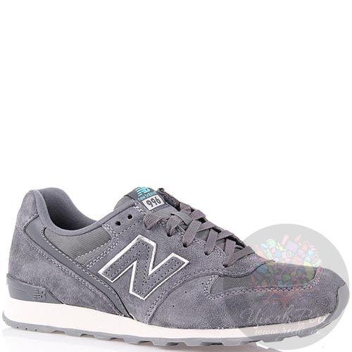 Кроссовки New Balance женские замшевые серого цвета, фото