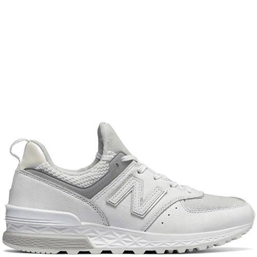 Кожаные кроссовки New Balance 574 белого цвета, фото
