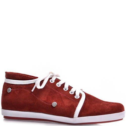 Кеды Prego женские замшевые красного цвета, фото