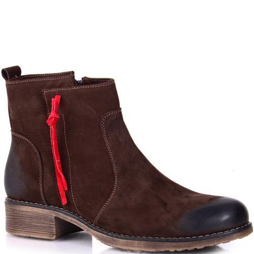 Коричневые ботинки на низком ходу Tuto из нубука, фото
