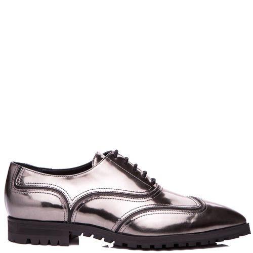 Туфли Giuseppe Zanotti глянцевые бронзового оттенка , фото