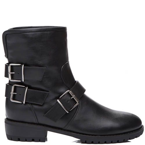 Ботинки Giuseppe Zanotti зимние черного цвета с пряжками, фото