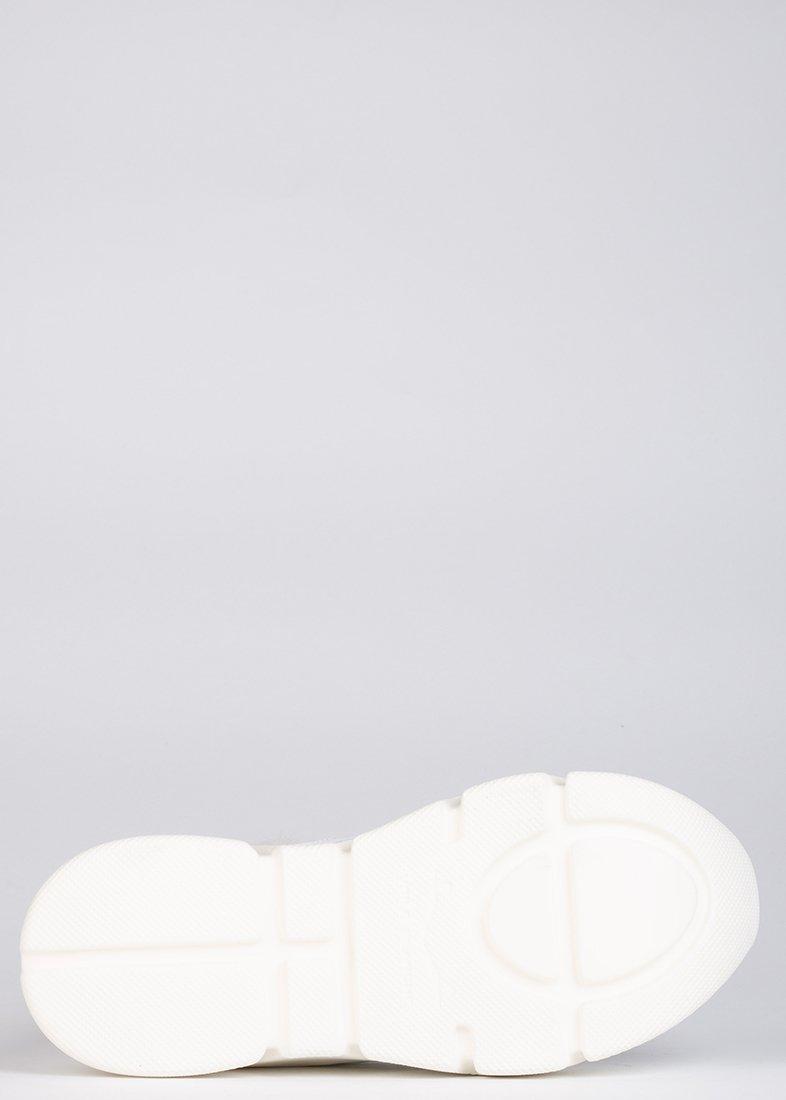 Лаковые кроссовки Voile Blanche Monster белого цвета