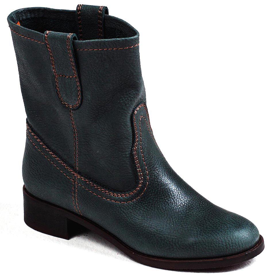 Женские ботинки Modus Vivendi в ковбойском стиле зеленого цвета