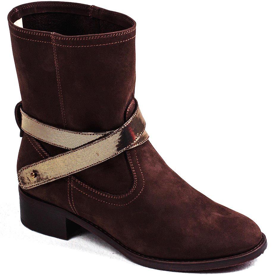 Женские ботинки Modus Vivendi замшевые темно-коричневого цвета