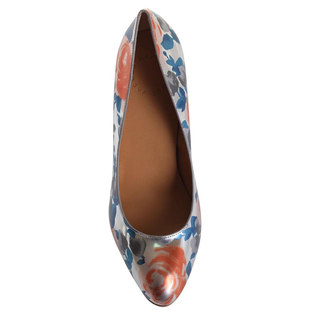 Серебристые туфли на шпильке Marc by Marc Jacobs с цветочным принтом