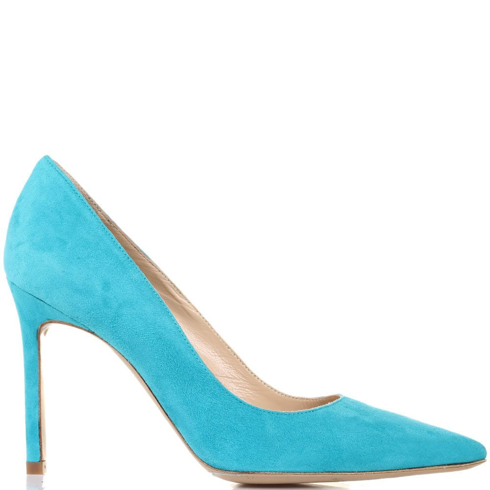Туфли Roberto Festa из замши цвета бирюзы