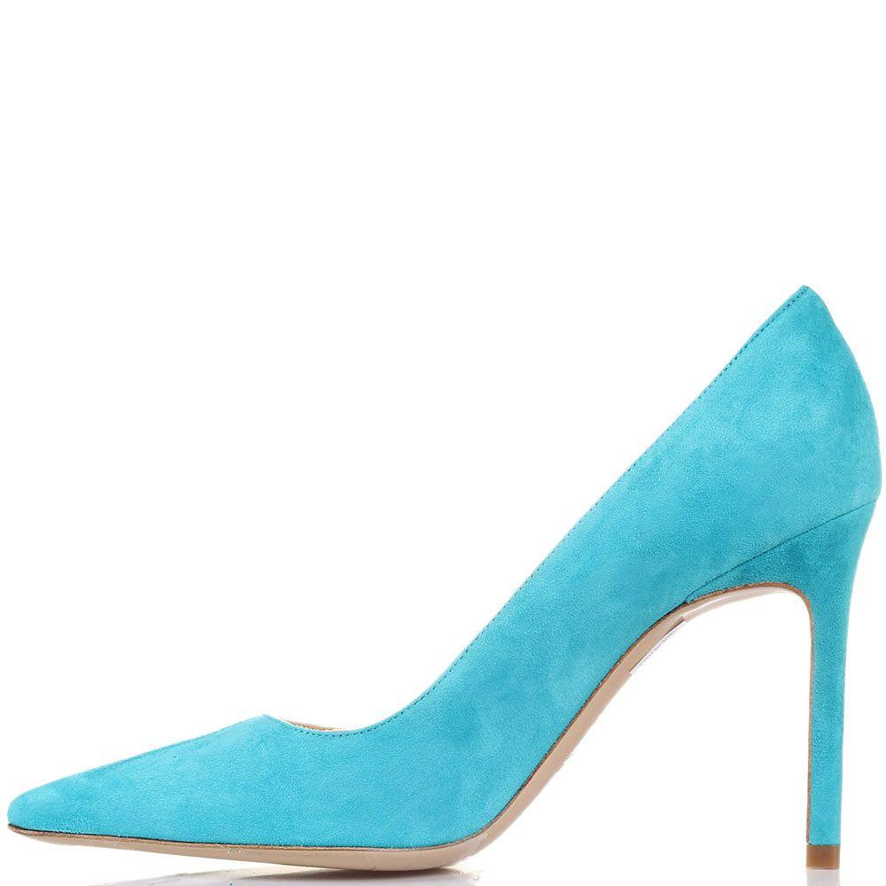Туфли Roberto Festa Milano из замши цвета бирюзы