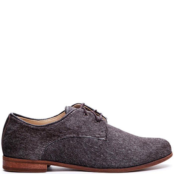 Кожаные туфли на шнуровке Modus Vivendi серого цвета