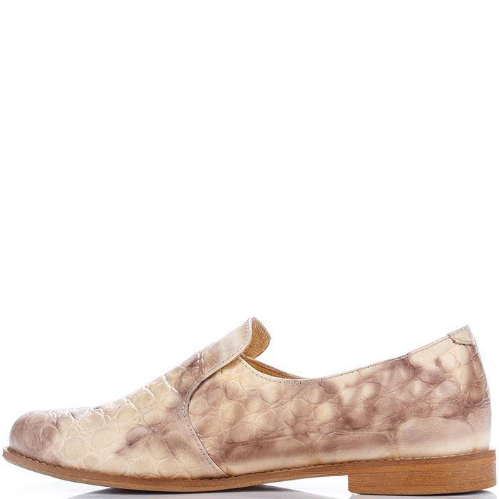 Женские туфли Modus Vivendi из натуральной кожи с имитацией кожи рептилии