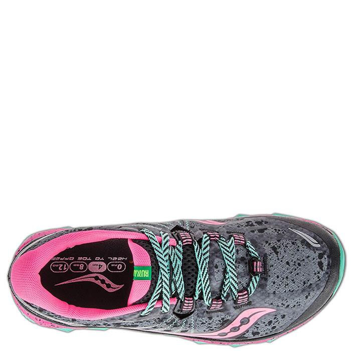 Беговые кроссовки Saucony NOMAD TR 2016'WA черные с ярко-розовыми вставками