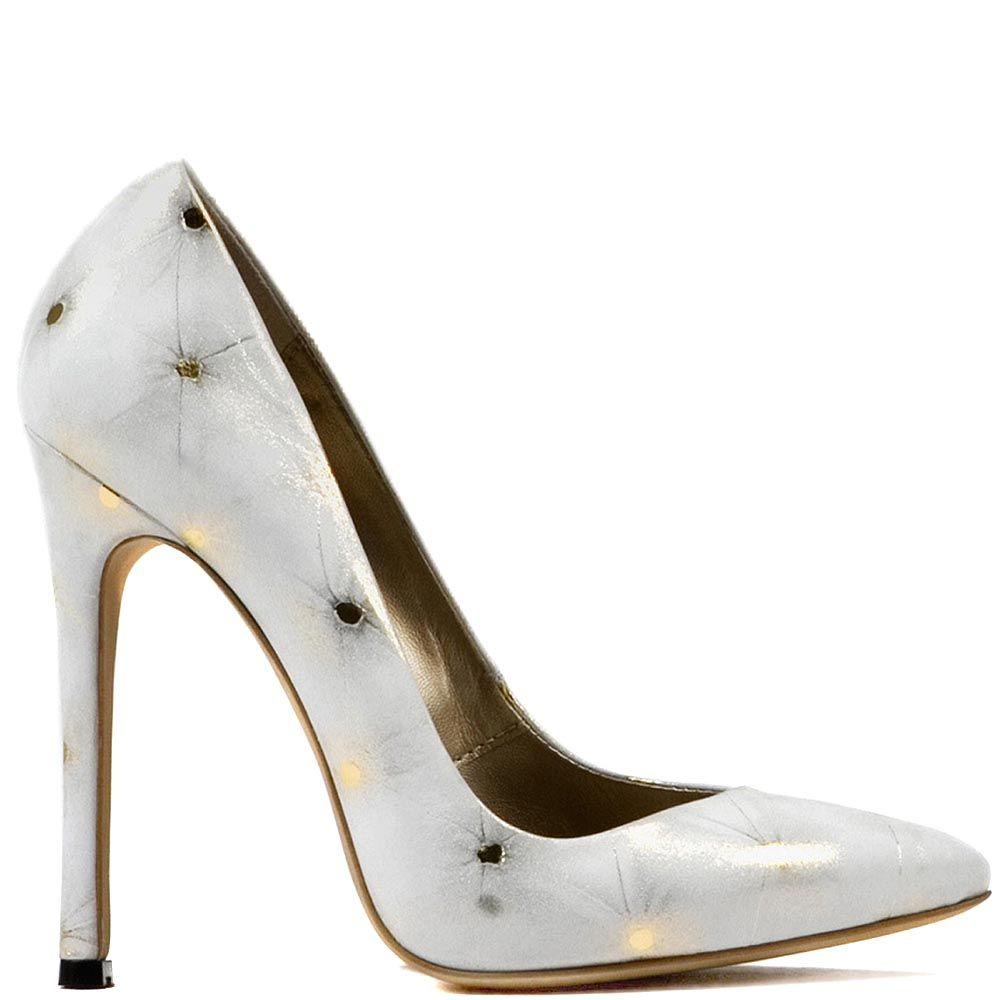 Туфли Modus Vivendi из белой кожи с золотистыми искрами