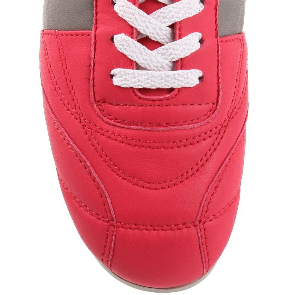 Женские кроссовки Bikkembergs из натуральной кожи цвета фуксии