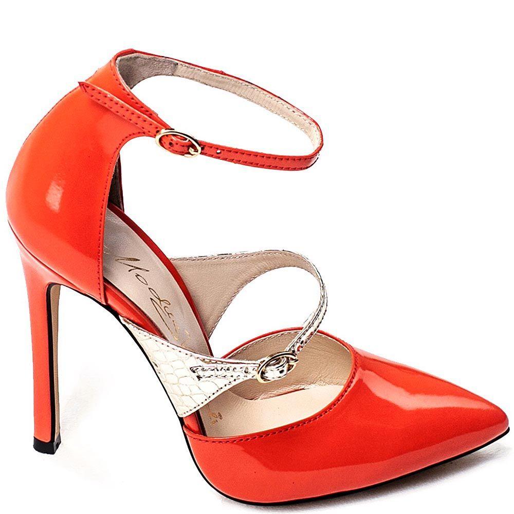 Женские туфли Modus Vivendi красно-золотые на высокой шпильке