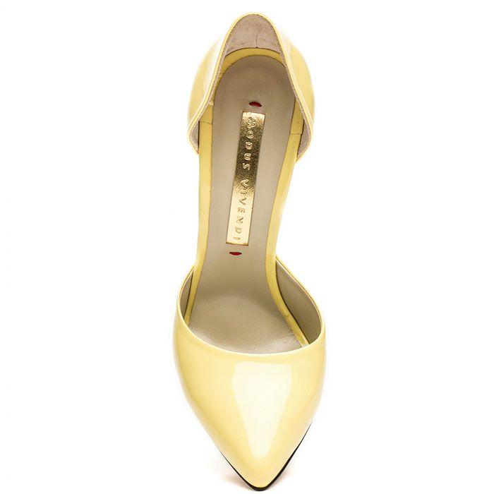Открытые туфли Modus Vivendi желтого цвета