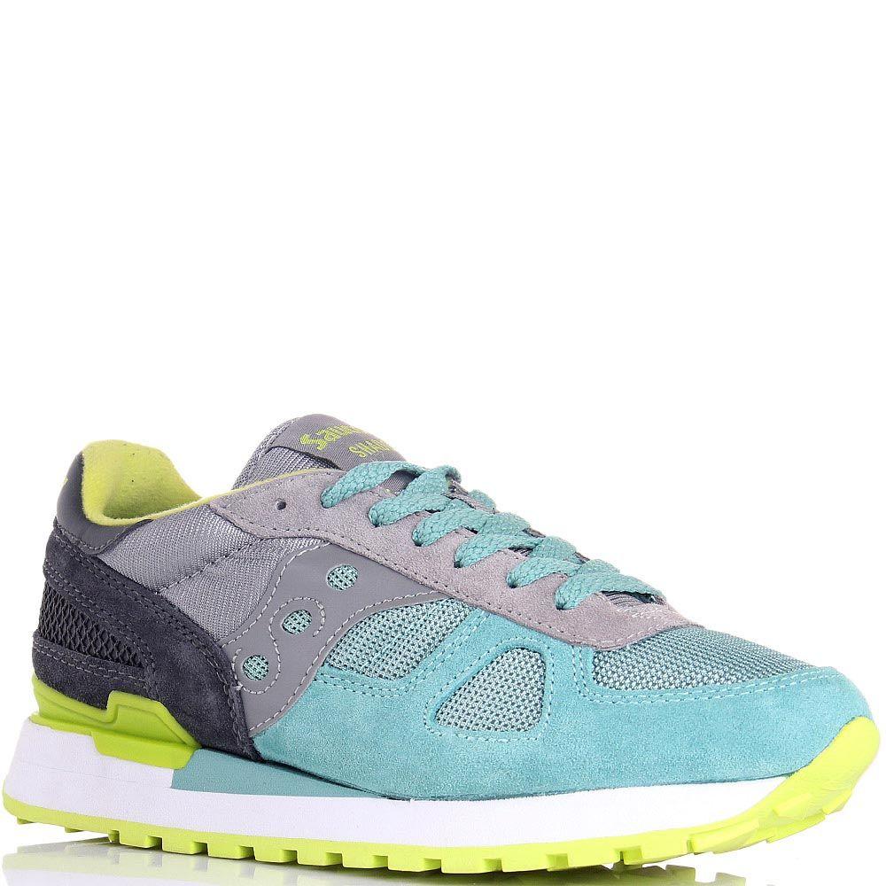 Кроссовки Saucony Shadow O S1108-588 женские серо-голубые