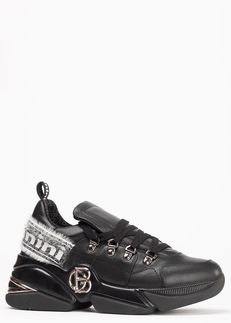 Черные кроссовки Baldinini на толстой подошве