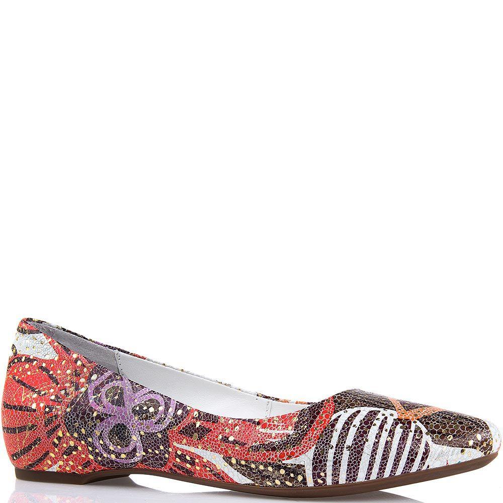 Туфли Modus Vivendi со скрытой танкеткой и цветочным принтом