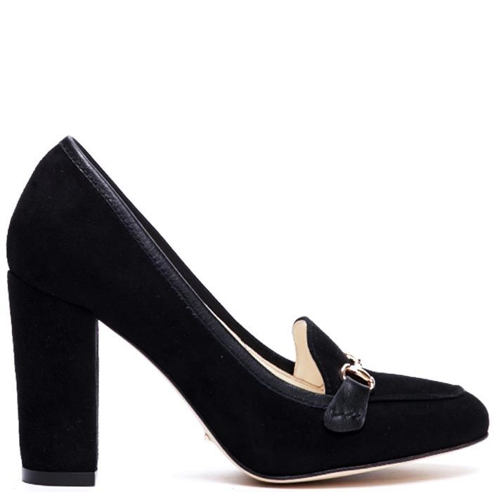Черные замшевые туфли Modus Vivendi на устойчивом каблуке