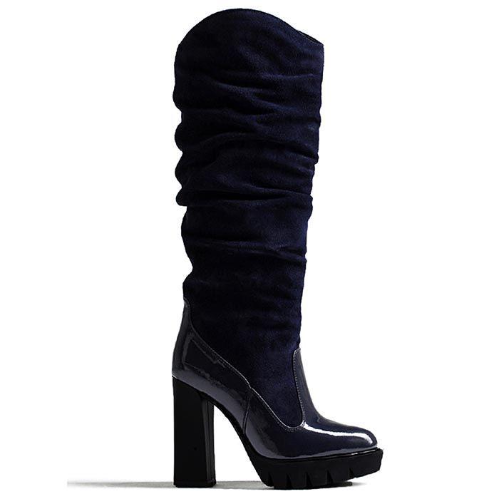 Сапоги женские Modus Vivendi черного цвета на каблуке