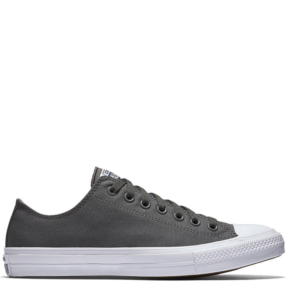 Низкие кеды Converse Chuck II серого цвета