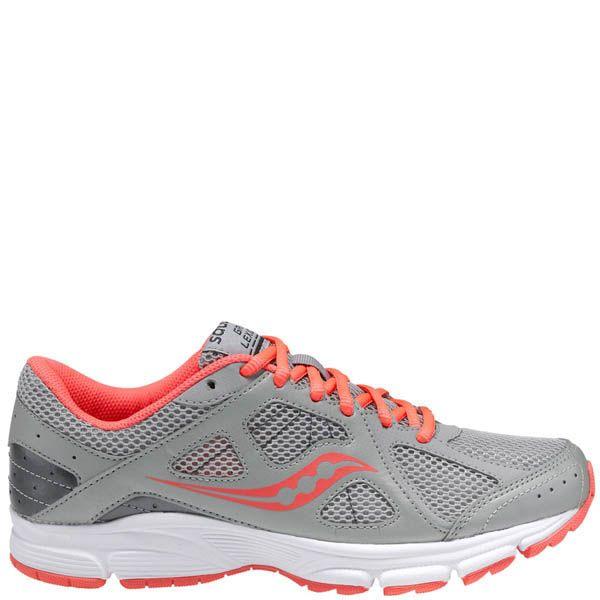 Легкие женские беговые кроссовки Saucony Grid Lexicon серый с коралловым