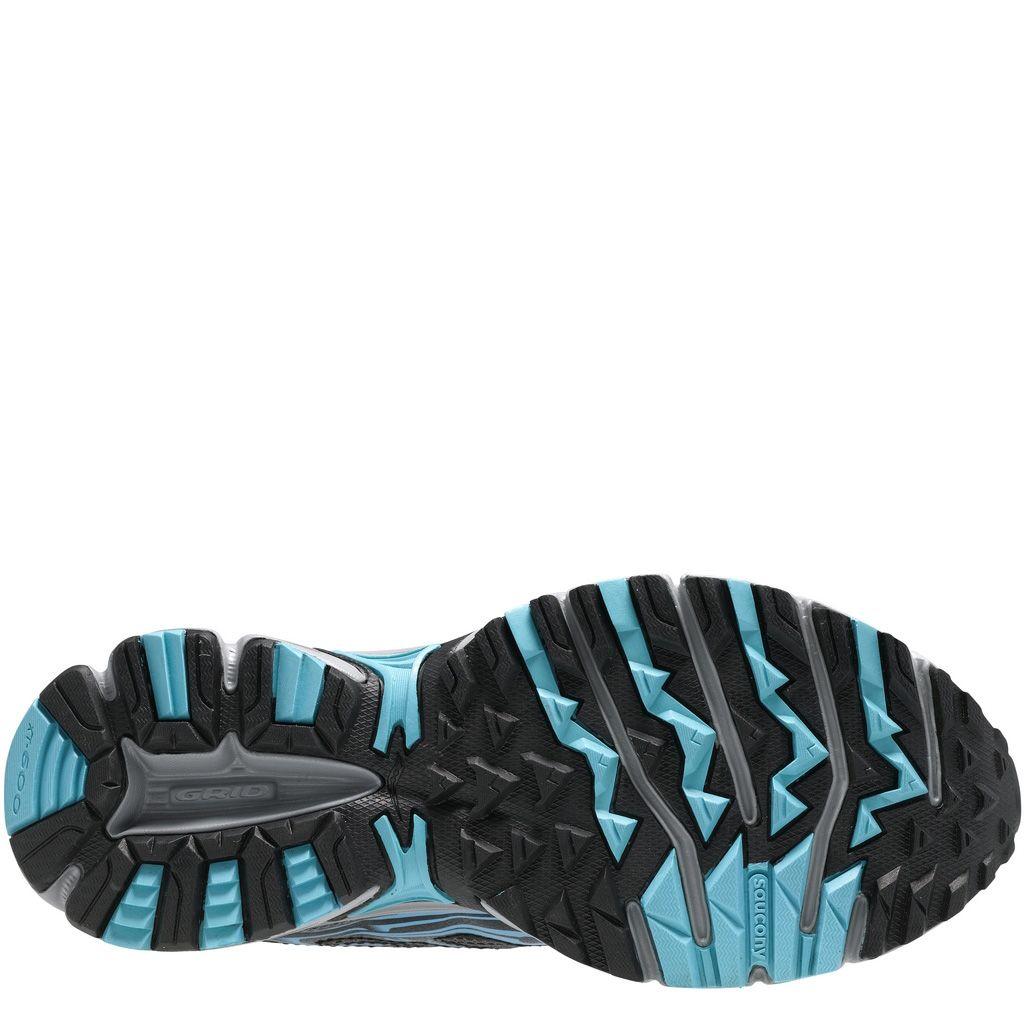 Беговые кроссовки Saucony Cohesion TR7 серые с голубым и коралловым