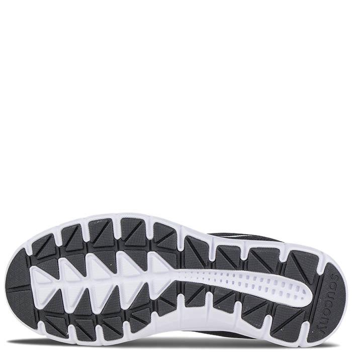 Беговые кроссовки Saucony GRID IDEAL 2016'WA черные на белой подошве