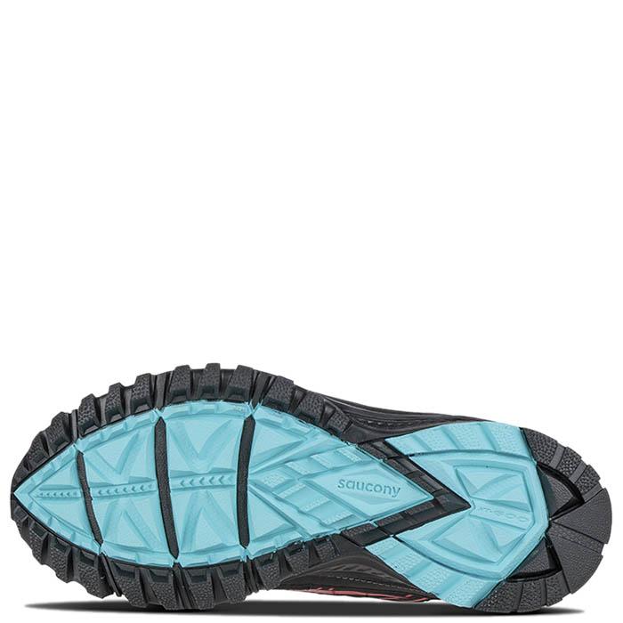Кроссовки Saucony GRID EXCURSION TR10 GTX 2016'WA черные с голубыми и розовыми элементами
