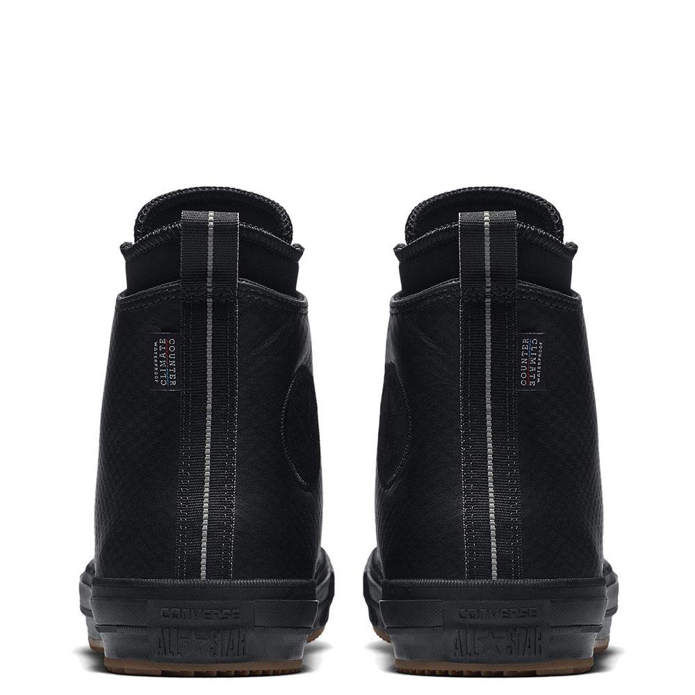 Высокие кожаные кеды Converse Chuck II черного цвета с тиснением