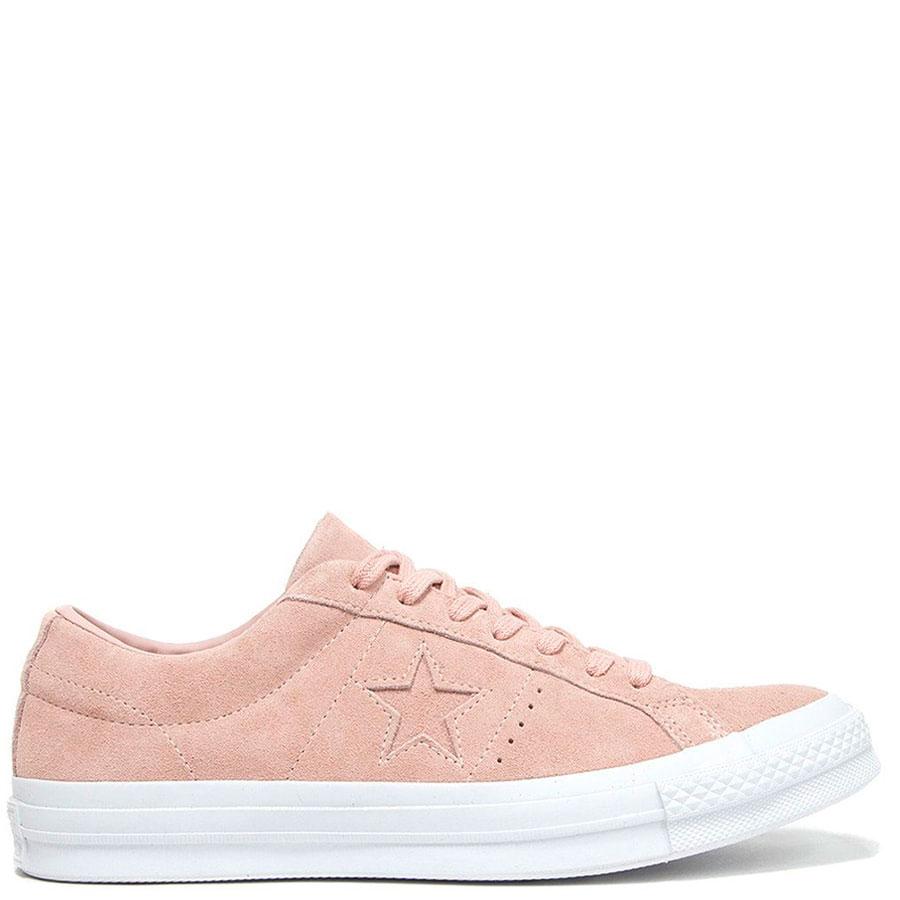 Замшевые кеды Converse розового цвета