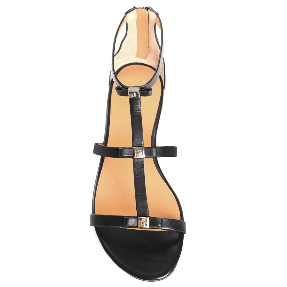 Черные кожаные сандалии Marc by Marc Jacobs с закрытой пяточкой
