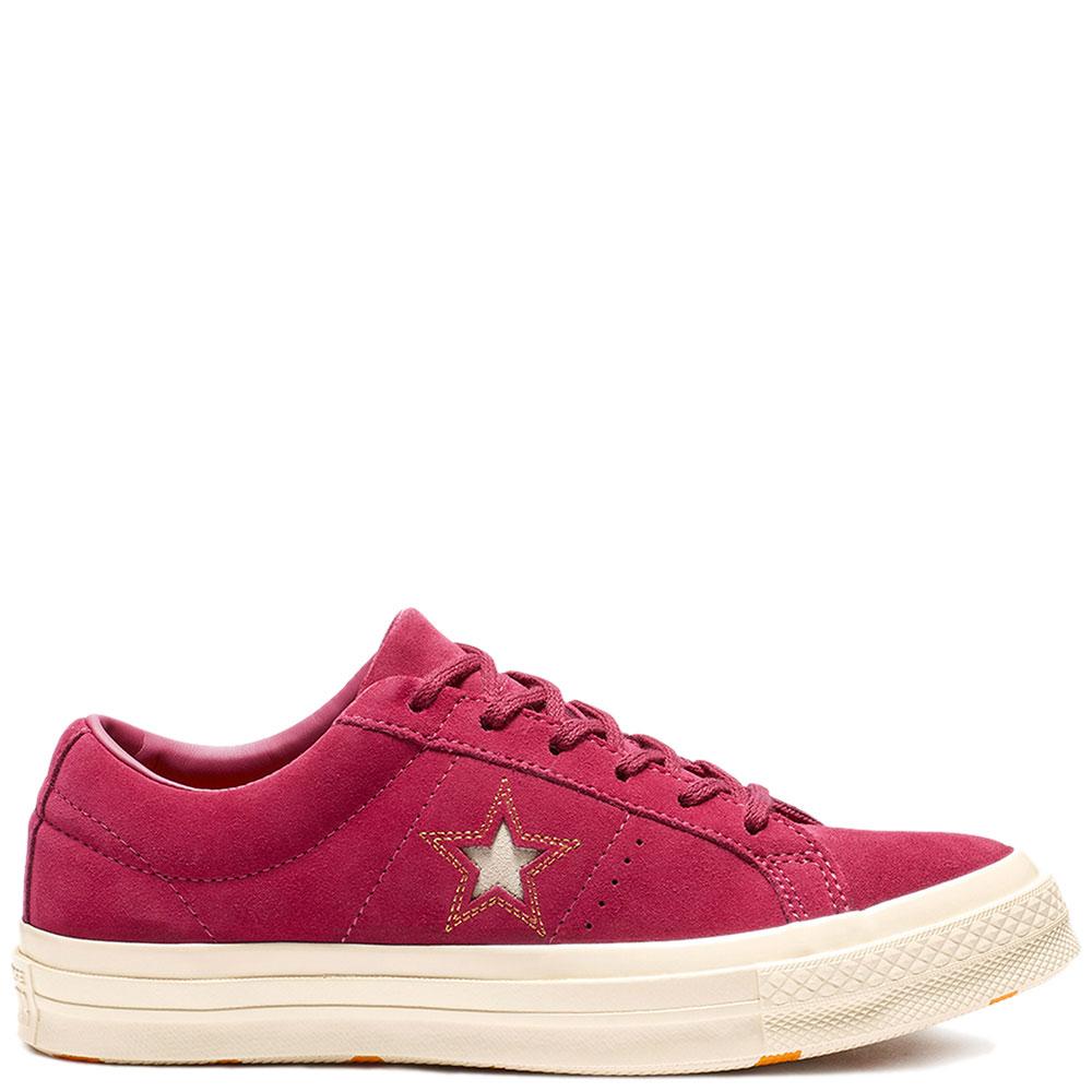 Кеды замшевые Converse One Star Ox красные