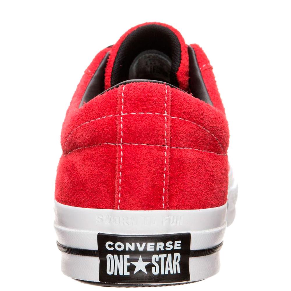 Кеды Converse One Star Dark Star Vintage Suede Low Top красные