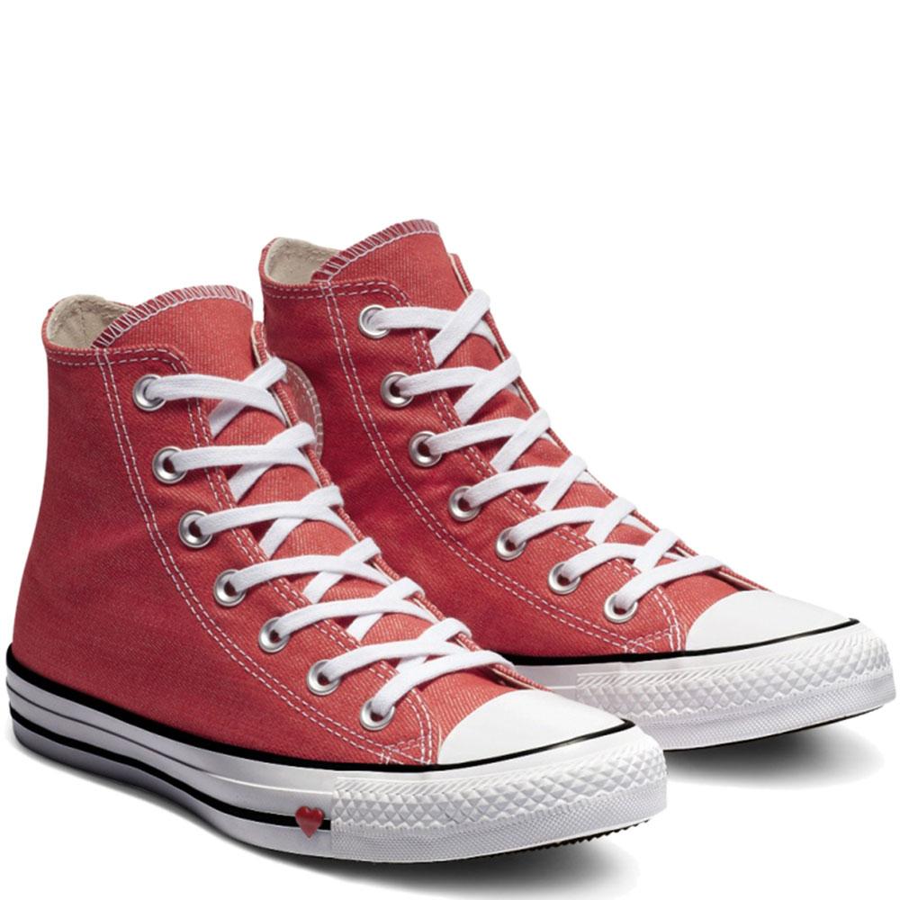 Женские высокие кеды Converse Chuck Taylor All Star Ctas Hi с белым носком