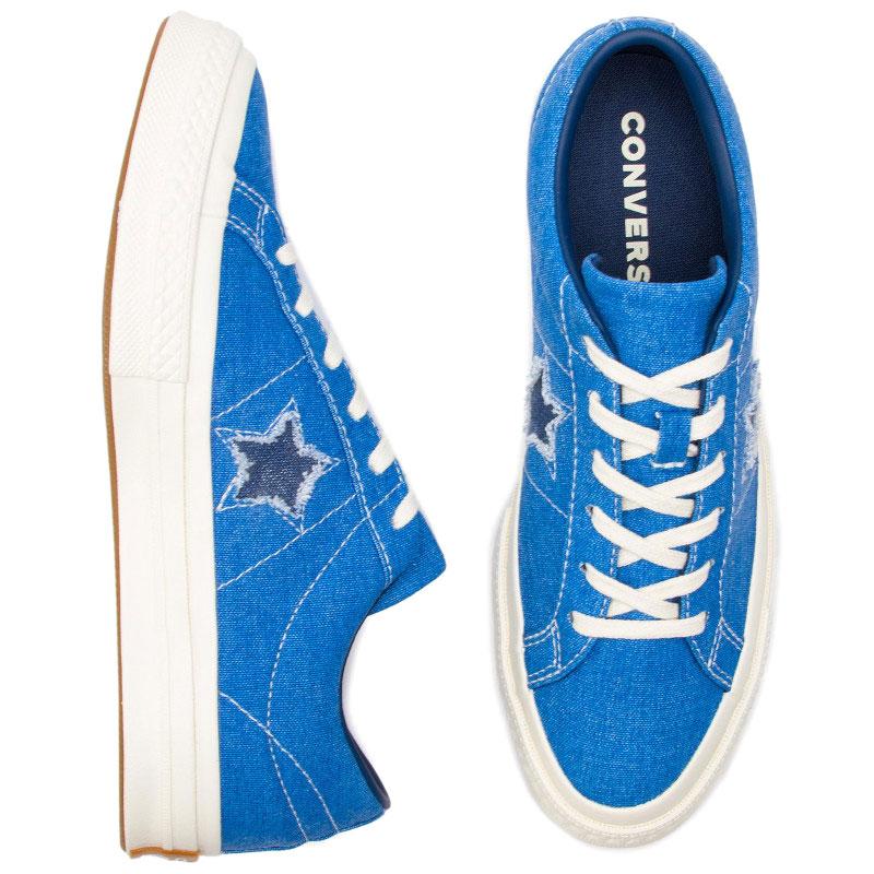 Женские кеды Converse One Star синего цвета