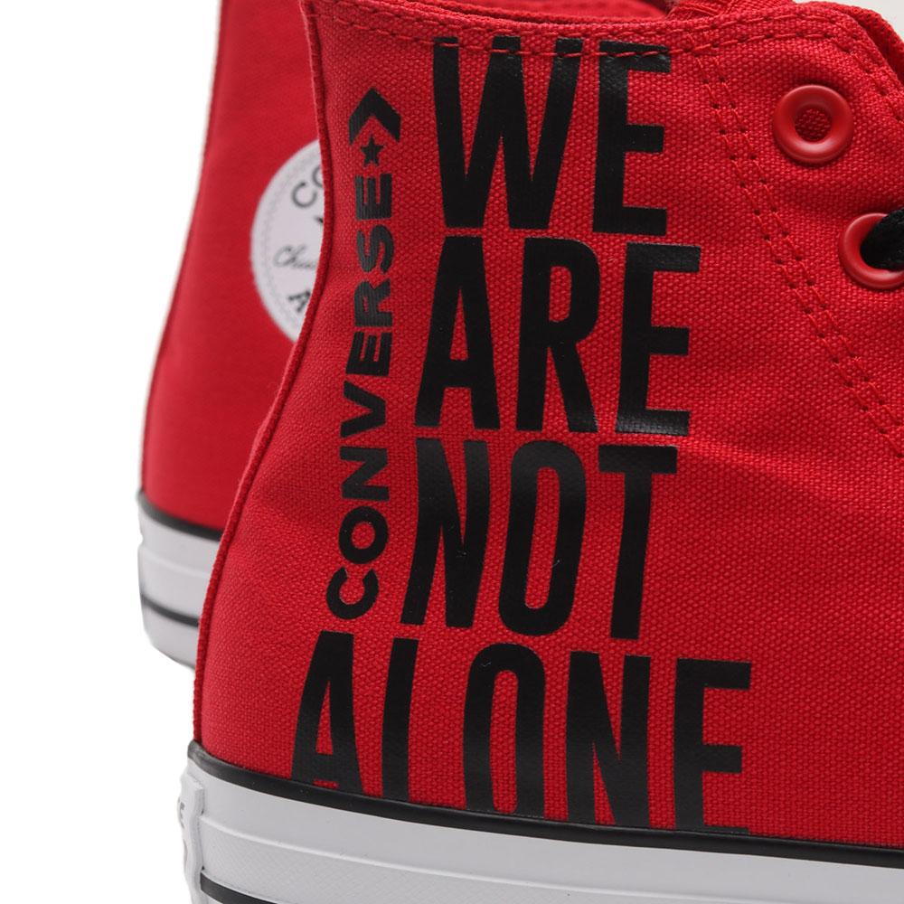 Красные кеды Converse Chuck Taylor All Star Ctas Hi We Are Not Alone