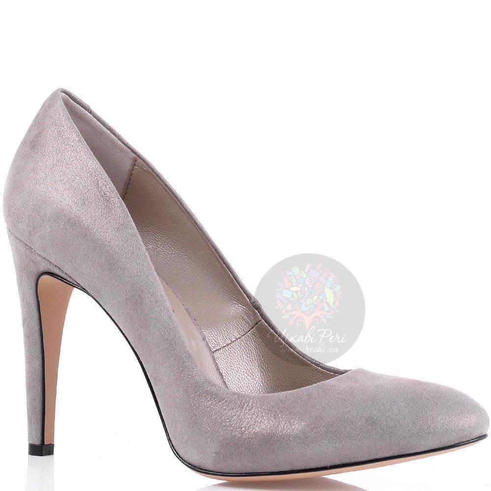 Замшевые туфли Modus Vivendi пепельно-розового цвета на высоком каблуке