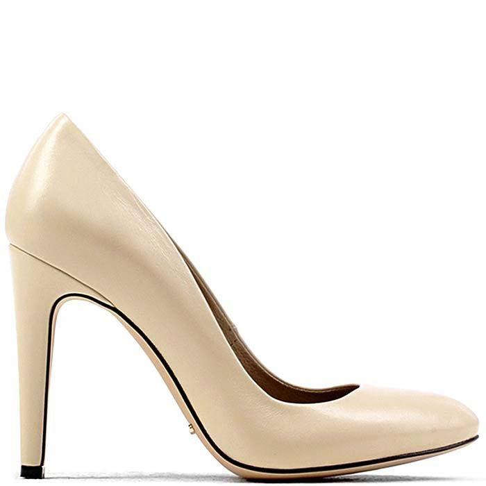 Туфли Modus Vivendi кожаные молочного цвета на высоком каблуке