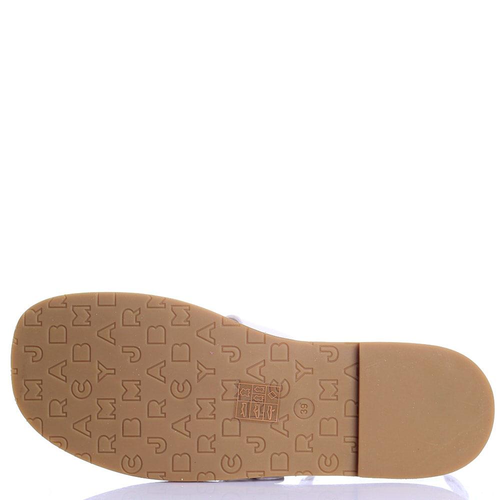 Кожаные сандалии Marc by Marc Jacobs белого цвета