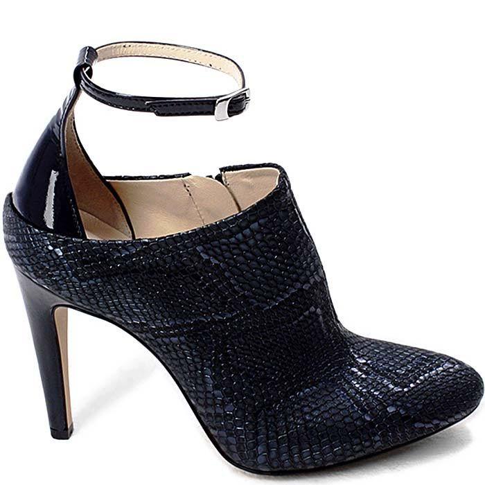 Закрытые туфли Modus Vivendi черного цвета с имитацией кожи питона