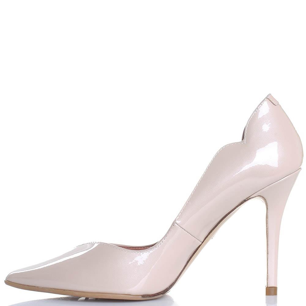 Туфли Giorgio Fabiani из лаковой кожи бежевого цвета