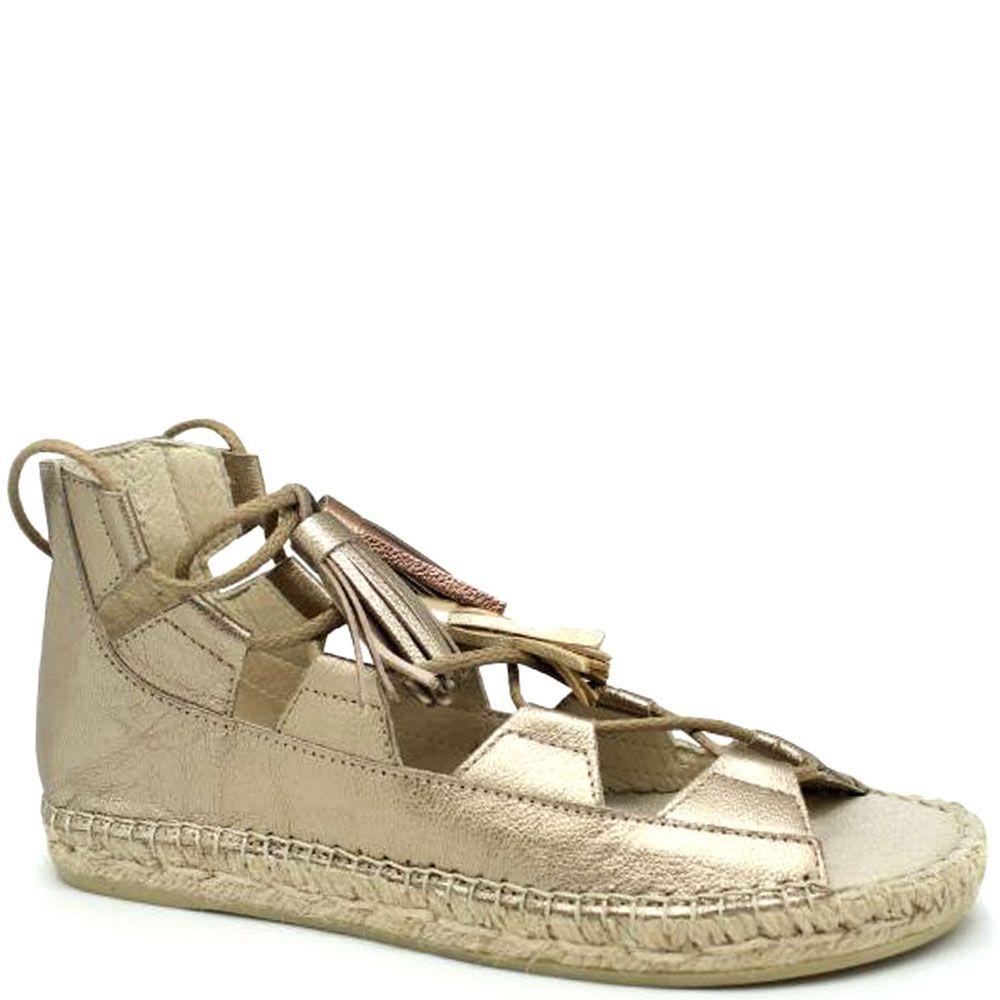 Кожаные высокие сандалии серебристого цвета Vidoretta на шнуровке с кисточками