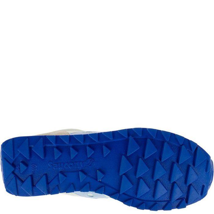 Кроссовки Saucony Jazz Lowpro Off White Lgt Blue бежевые с голубым